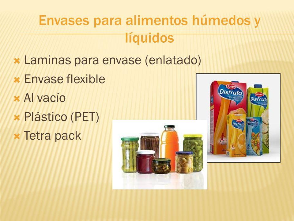 Envases para alimentos húmedos y líquidos