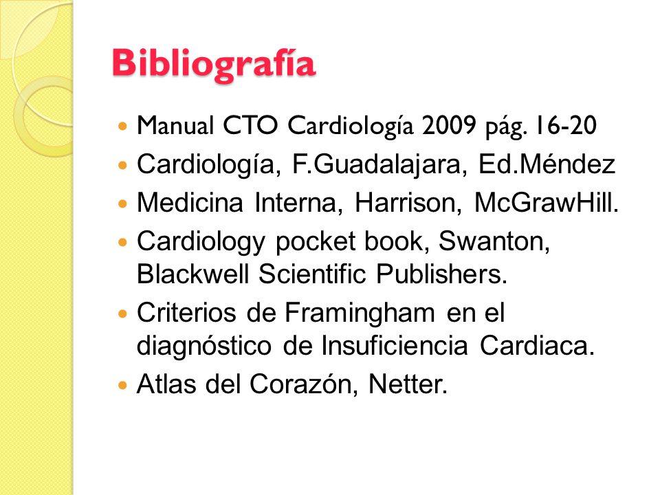 Bibliografía Manual CTO Cardiología 2009 pág. 16-20