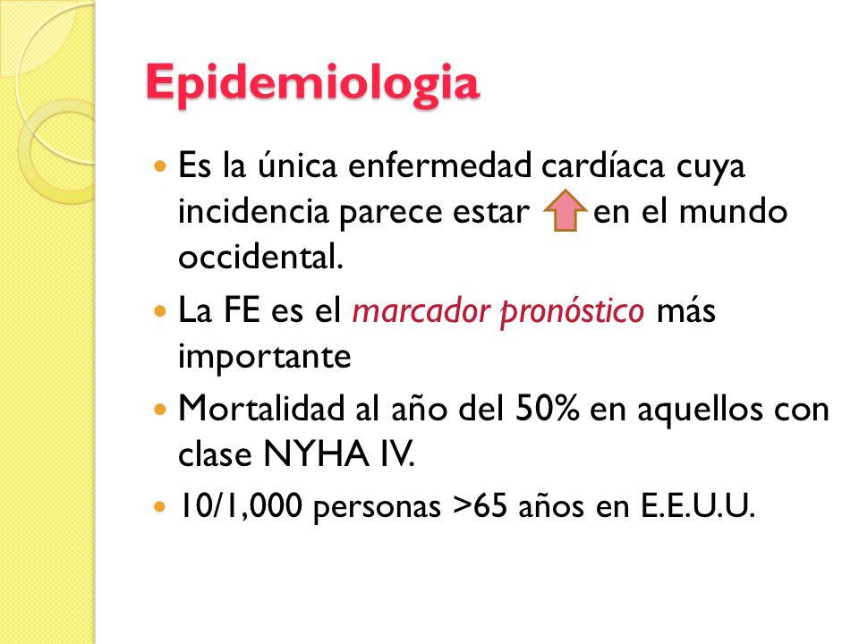 Epidemiologia Es la única enfermedad cardíaca cuya incidencia parece estar en el mundo occidental.