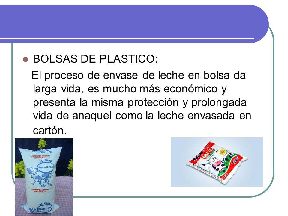 BOLSAS DE PLASTICO: