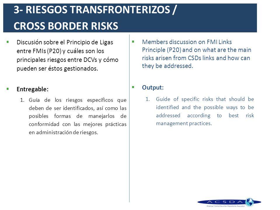 3- RIESGOS TRANSFRONTERIZOS / CROSS BORDER RISKS