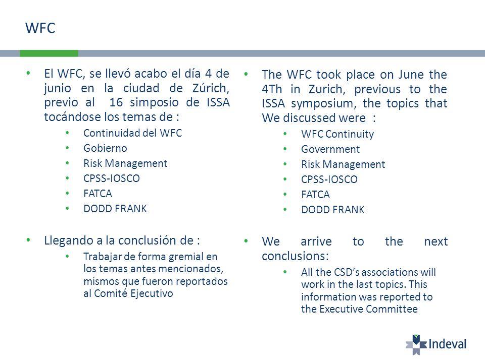 WFC El WFC, se llevó acabo el día 4 de junio en la ciudad de Zúrich, previo al 16 simposio de ISSA tocándose los temas de :