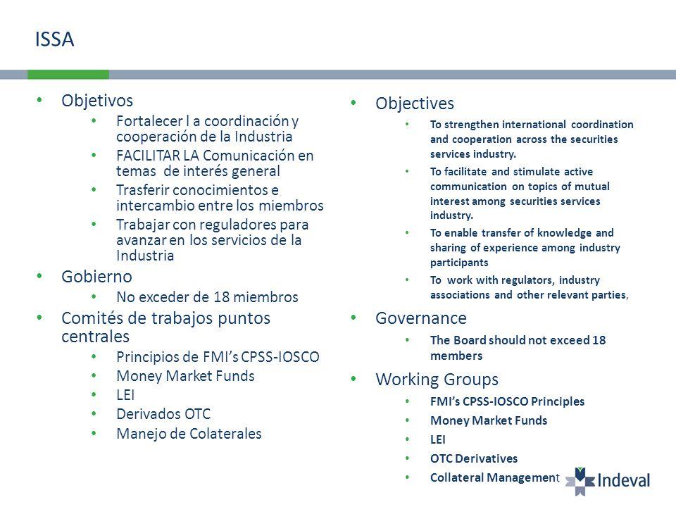 ISSA Objetivos Objectives Gobierno