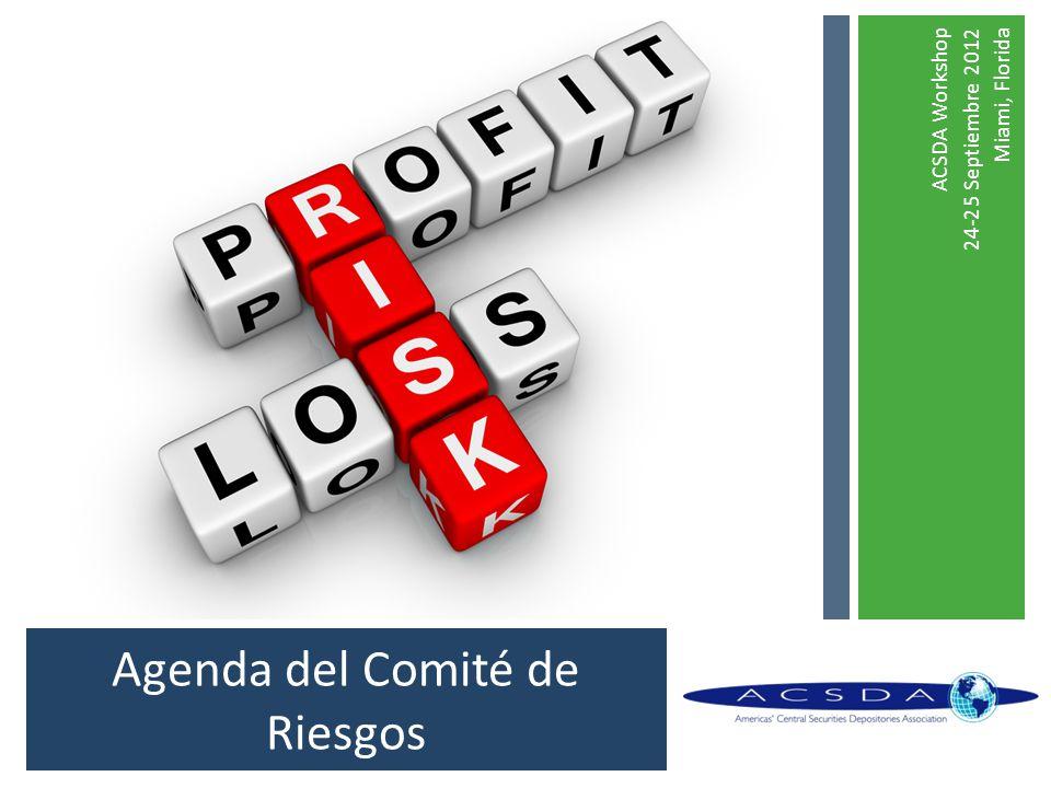 Agenda del Comité de Riesgos