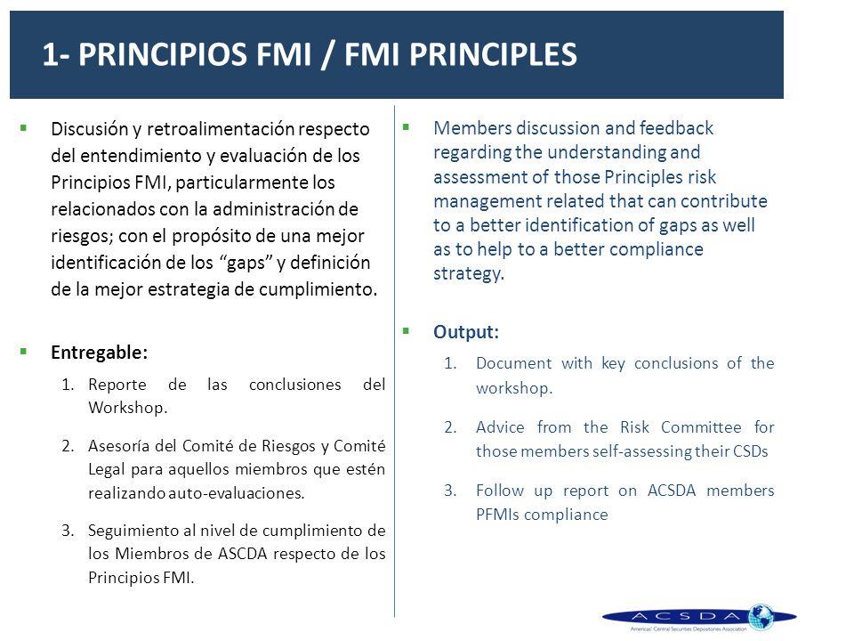 1- PRINCIPIOS FMI / FMI PRINCIPLES