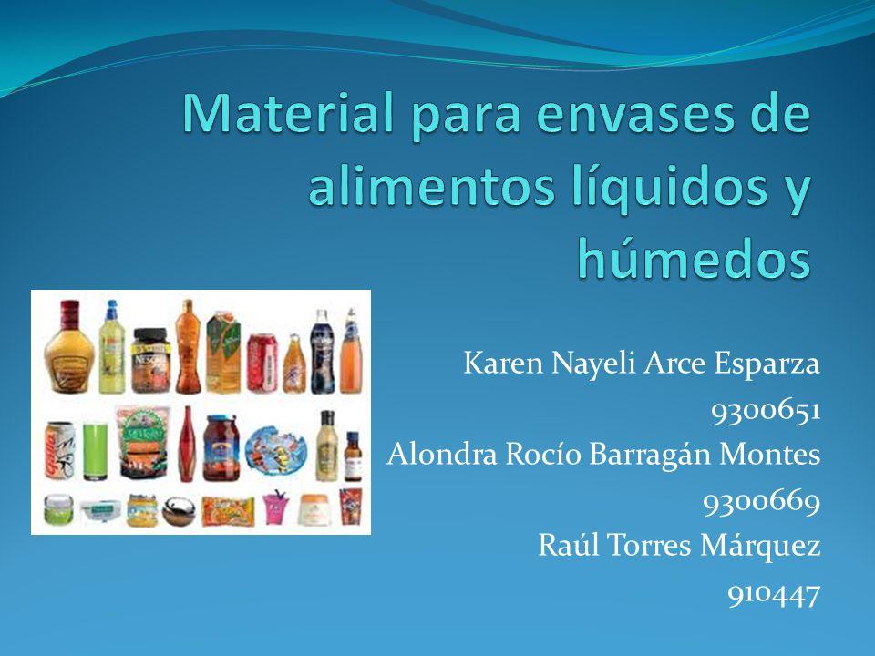 Material para envases de alimentos líquidos y húmedos