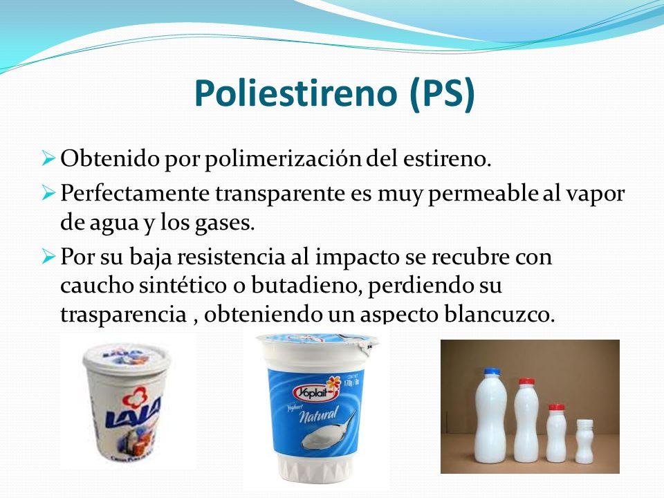 Poliestireno (PS) Obtenido por polimerización del estireno.