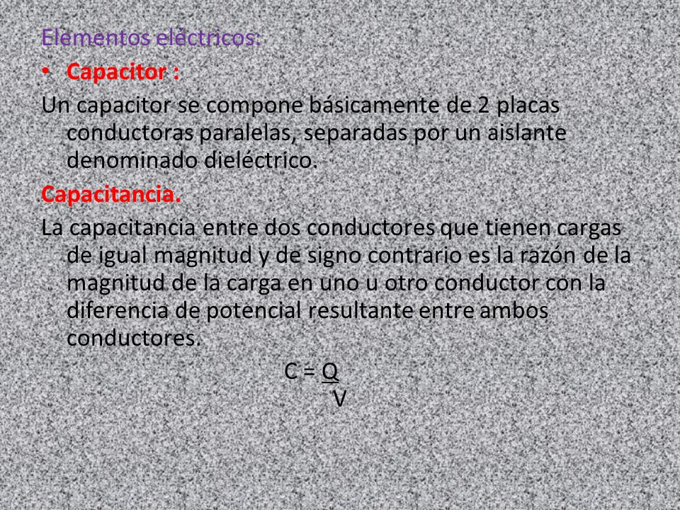 Elementos eléctricos: