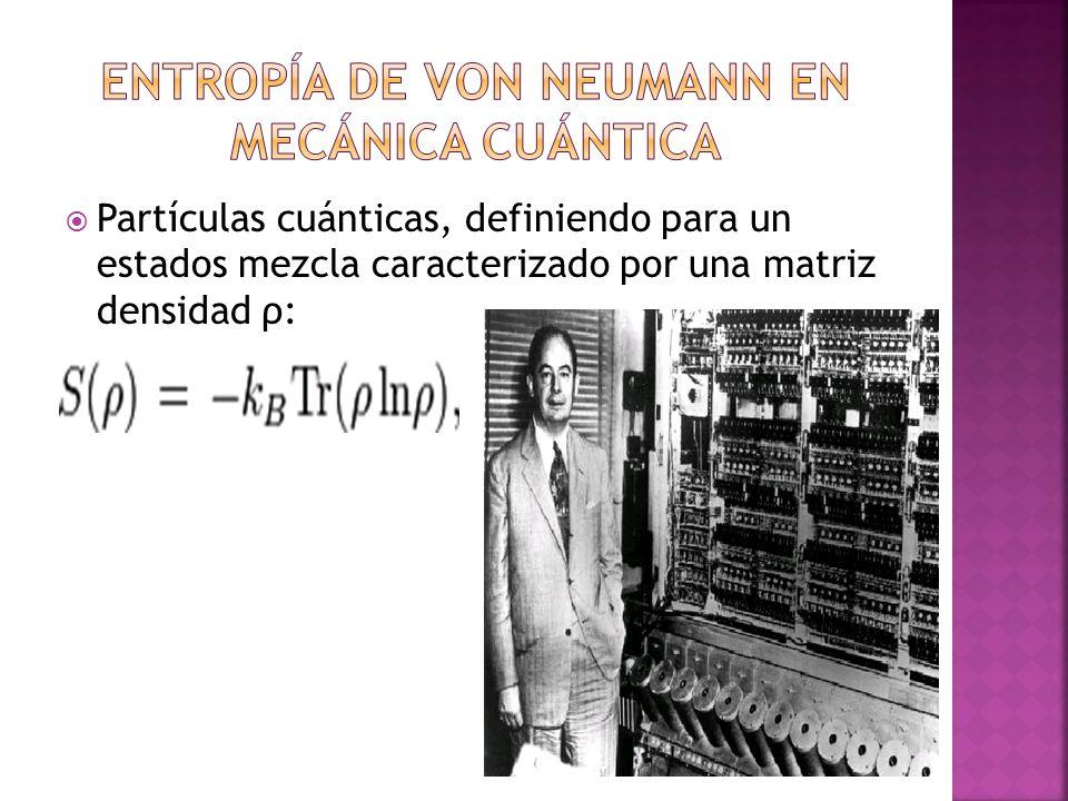 Entropía de Von Neumann en mecánica cuántica