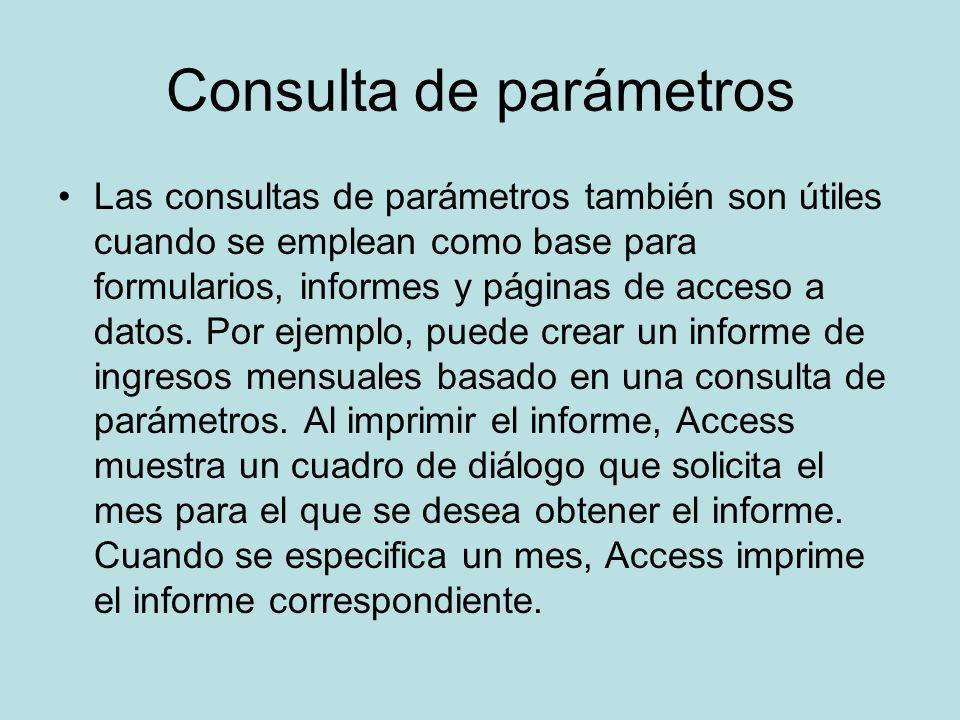 Consulta de parámetros