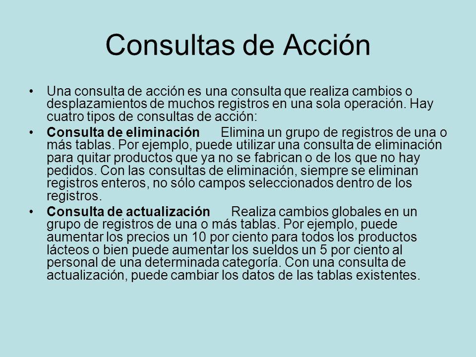 Consultas de Acción