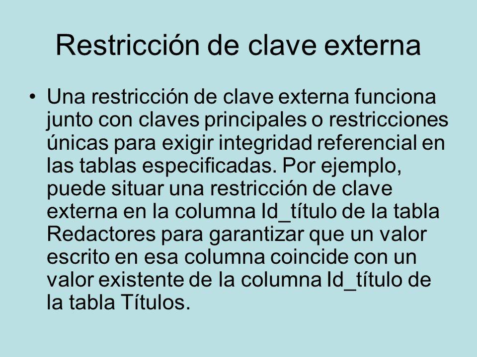 Restricción de clave externa