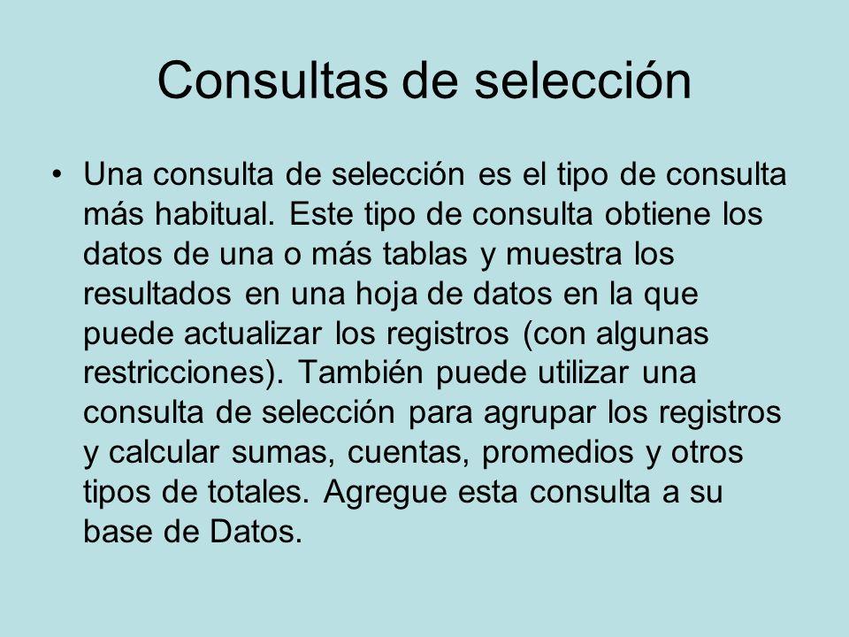 Consultas de selección