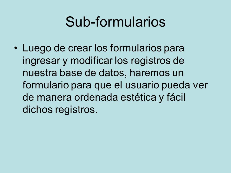 Sub-formularios