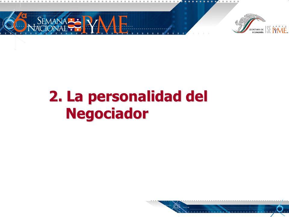 2. La personalidad del Negociador