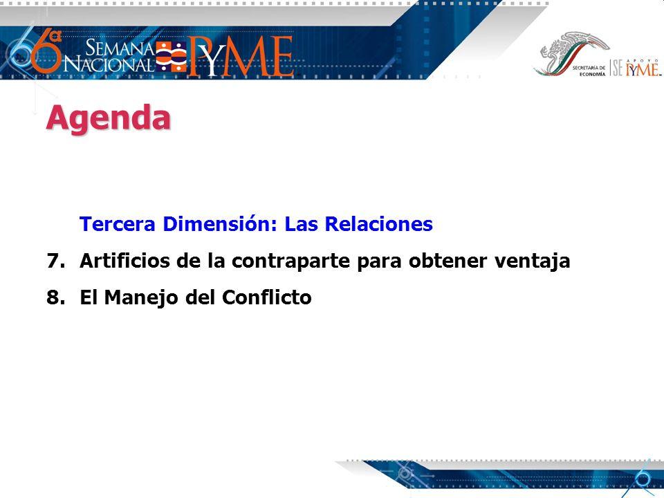 Agenda Tercera Dimensión: Las Relaciones