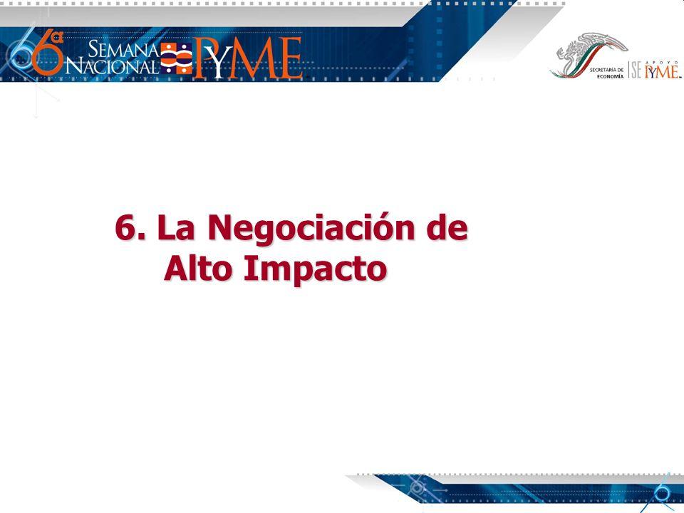 6. La Negociación de Alto Impacto