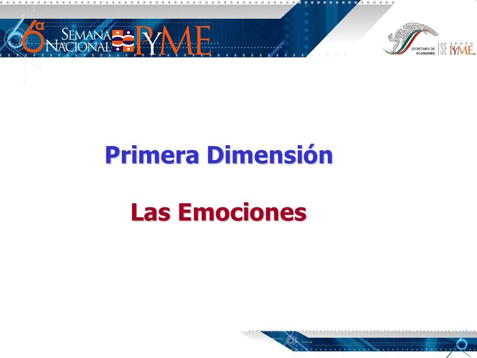 Primera Dimensión Las Emociones
