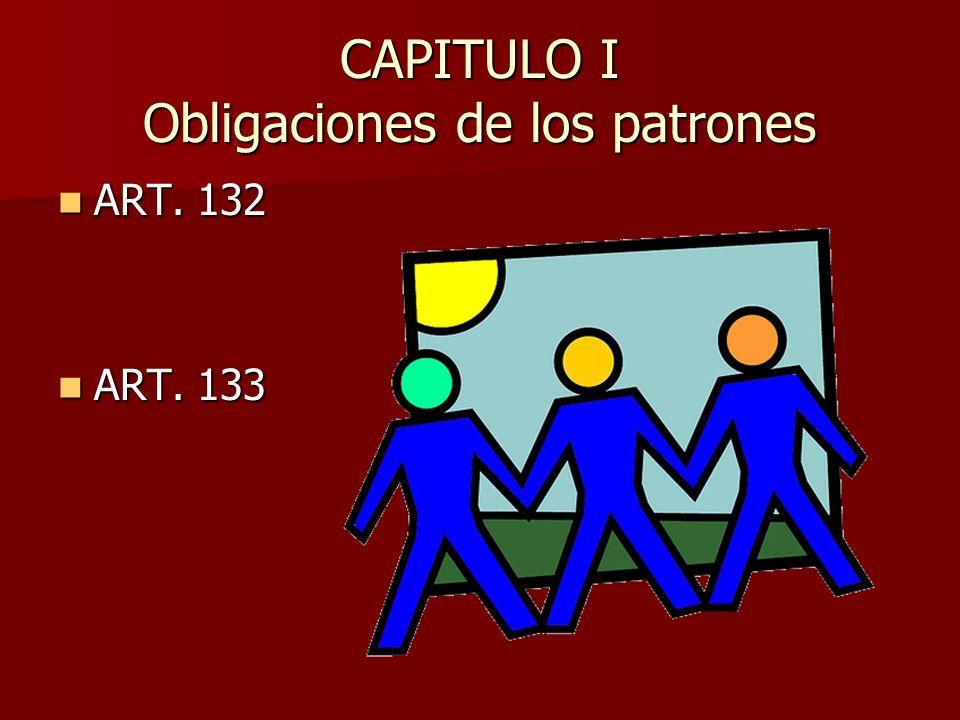CAPITULO I Obligaciones de los patrones