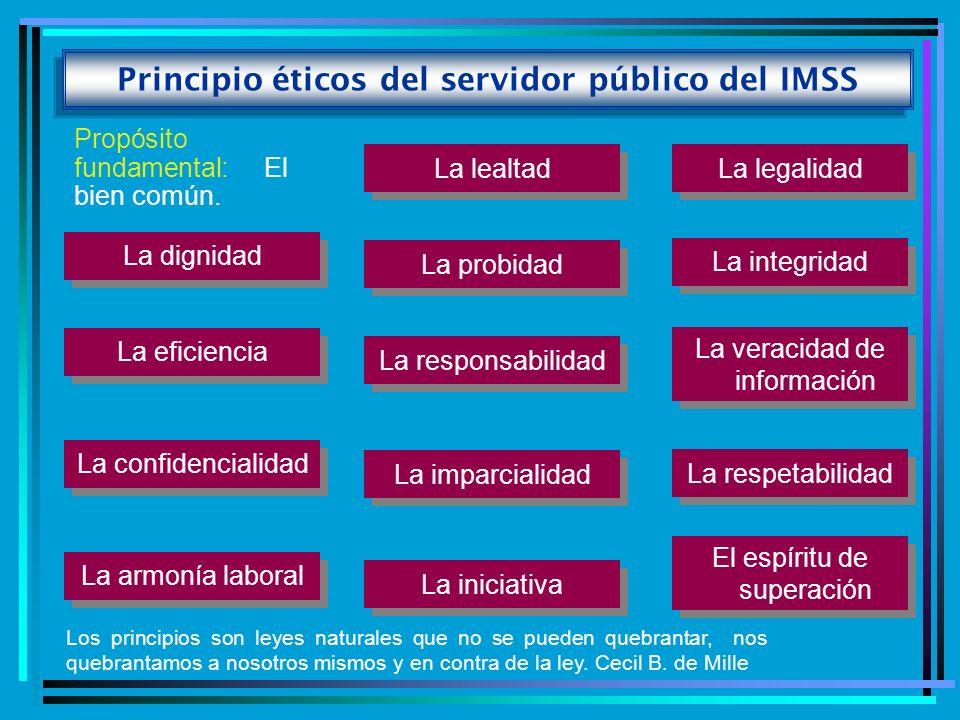 Principio éticos del servidor público del IMSS
