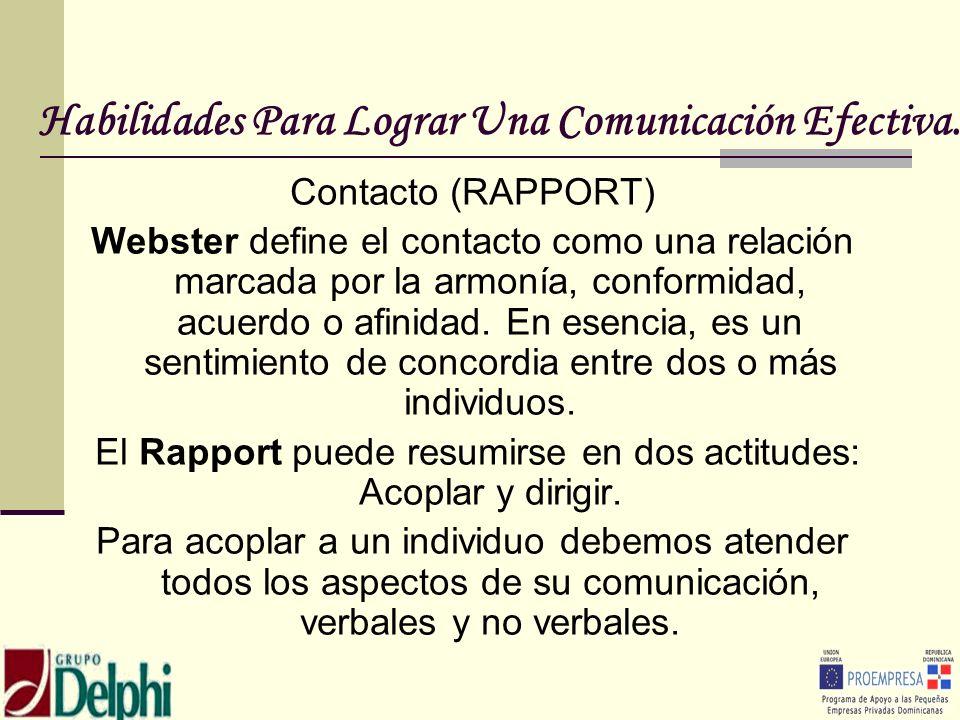 Habilidades Para Lograr Una Comunicación Efectiva.