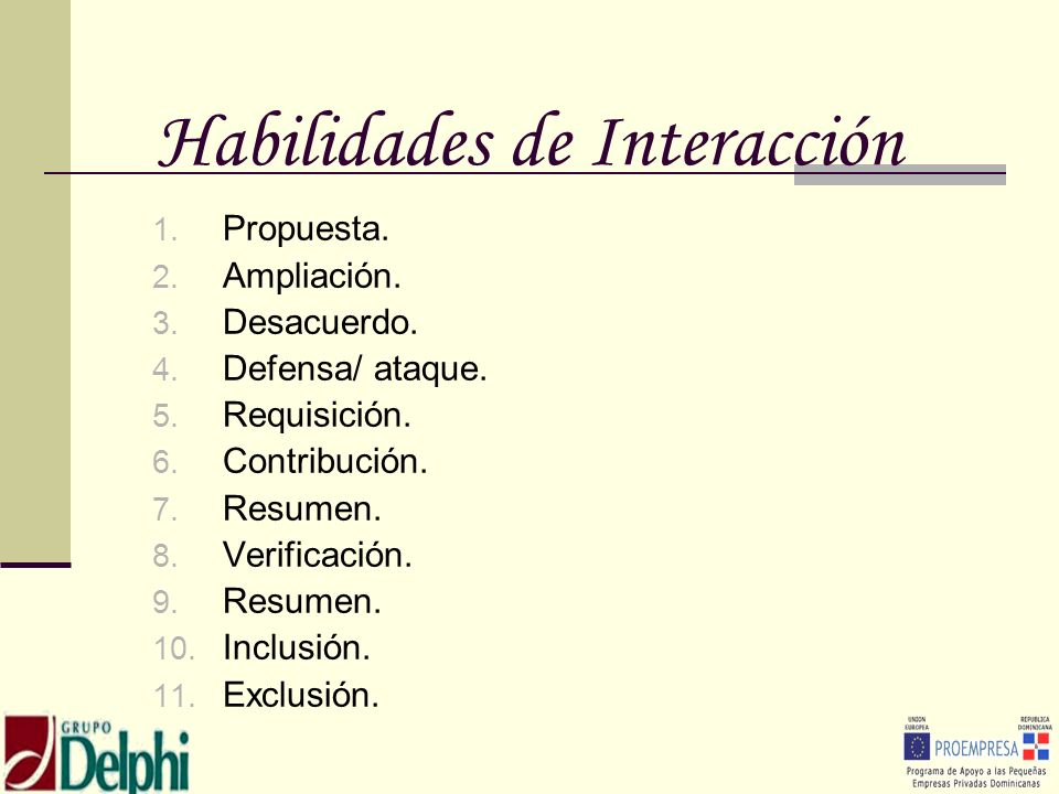 Habilidades de Interacción