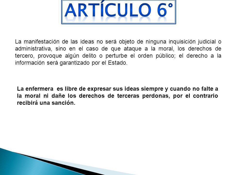 ARTÍCULO 6°