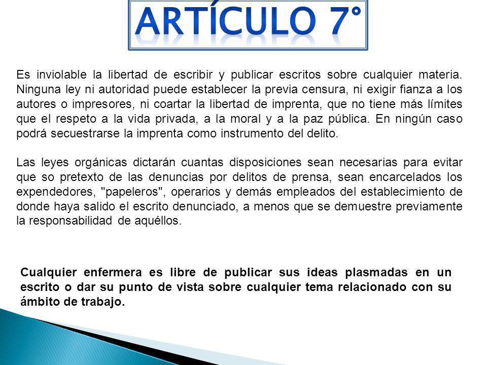 ARTÍCULO 7°