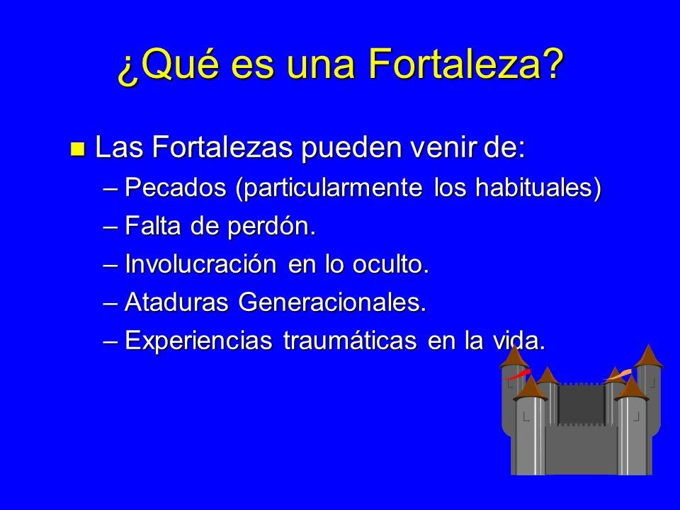 ¿Qué es una Fortaleza Las Fortalezas pueden venir de: