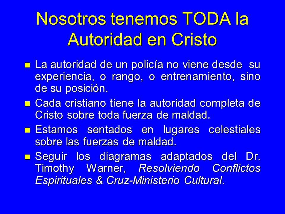 Nosotros tenemos TODA la Autoridad en Cristo