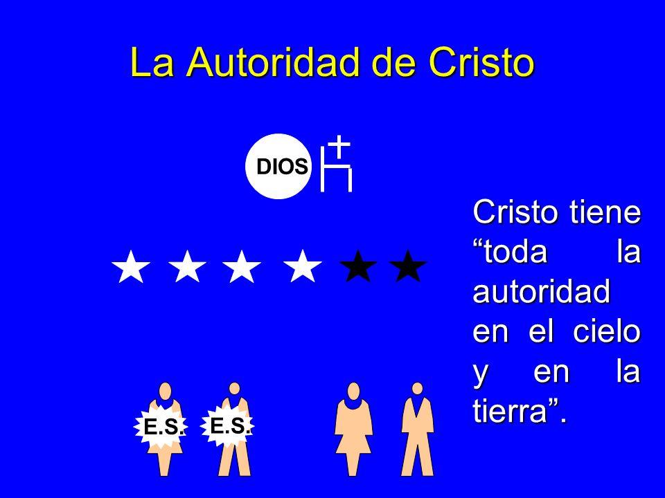La Autoridad de Cristo DIOS Cristo tiene toda la autoridad en el cielo y en la tierra . E.S. E.S.