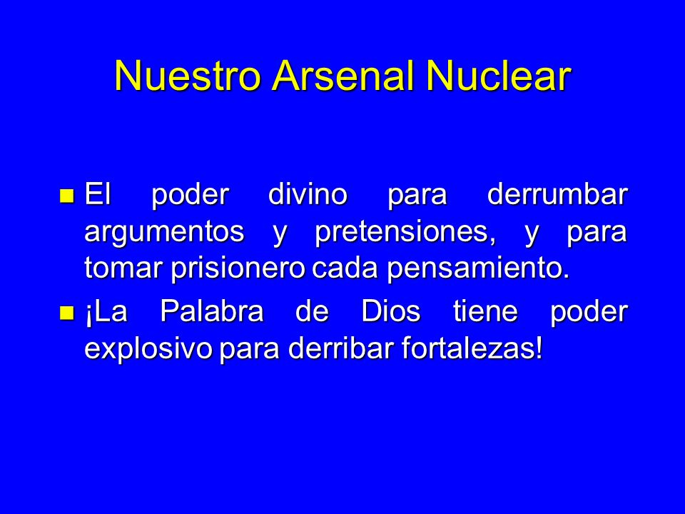 Nuestro Arsenal Nuclear