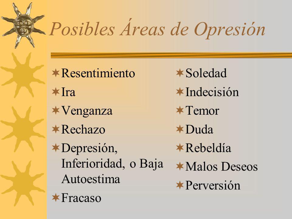 Posibles Áreas de Opresión