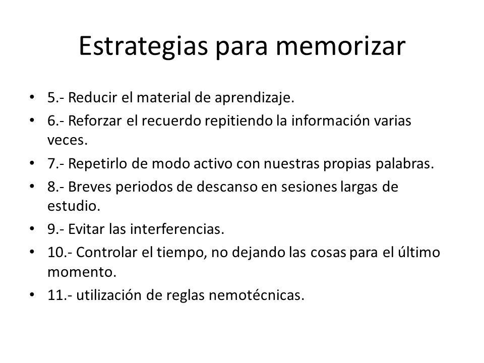 Estrategias para memorizar