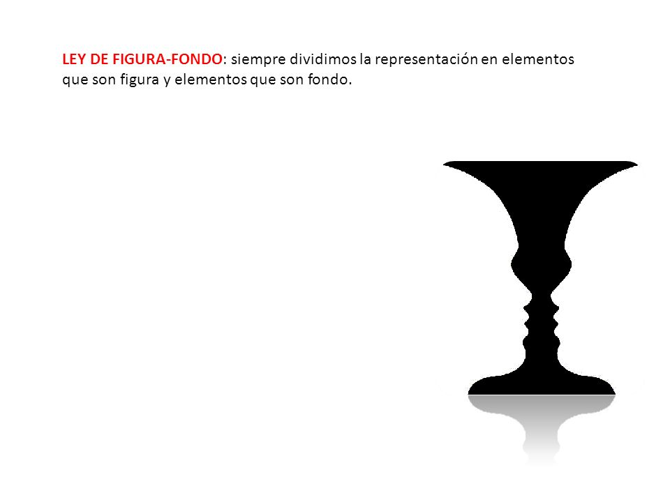 LEY DE FIGURA-FONDO: siempre dividimos la representación en elementos que son figura y elementos que son fondo.