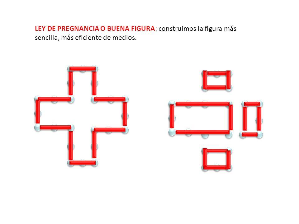 LEY DE PREGNANCIA O BUENA FIGURA: construimos la figura más sencilla, más eficiente de medios.