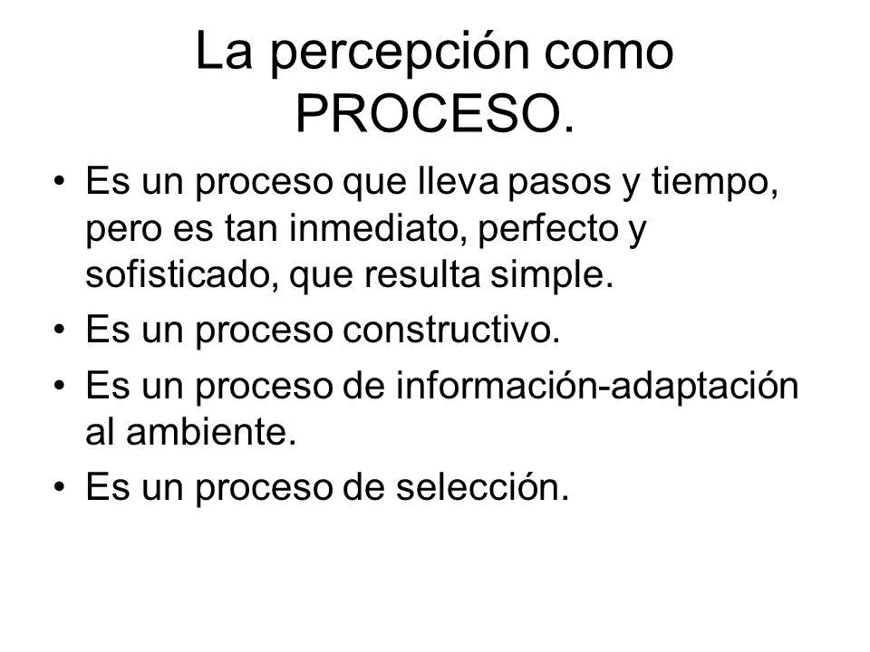 La percepción como PROCESO.