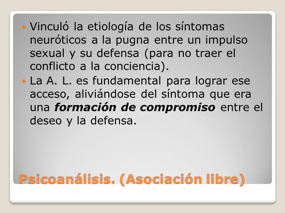 Psicoanálisis. (Asociación libre)