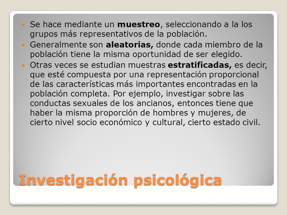 Investigación psicológica