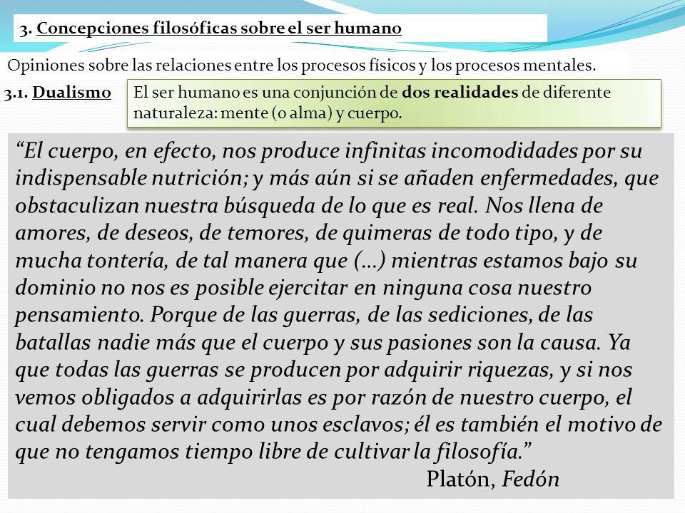 3. Concepciones filosóficas sobre el ser humano