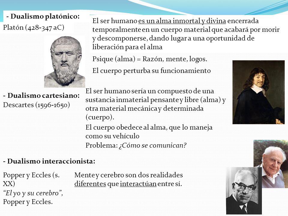 - Dualismo platónico: