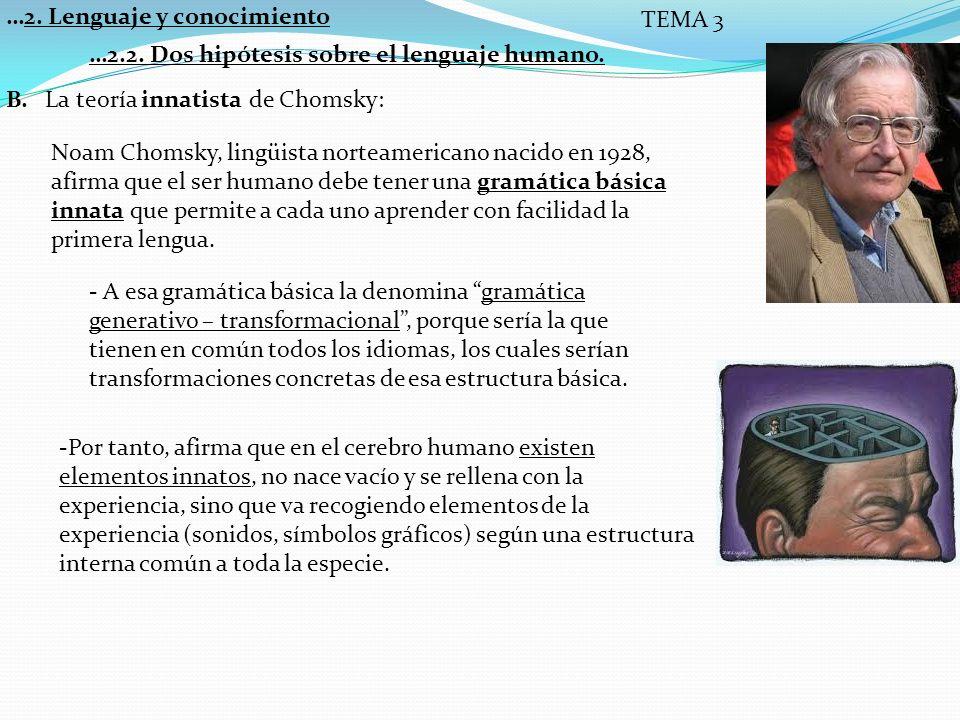 …2. Lenguaje y conocimiento TEMA 3
