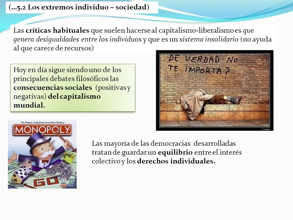 (…5.2 Los extremos individuo – sociedad)