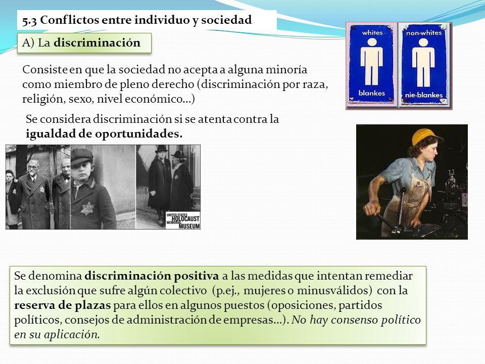5.3 Conflictos entre individuo y sociedad
