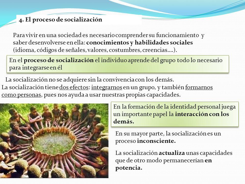 4. El proceso de socialización