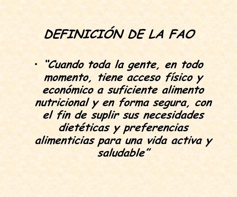 DEFINICIÓN DE LA FAO