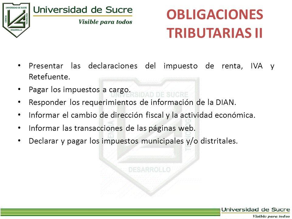 OBLIGACIONES TRIBUTARIAS II