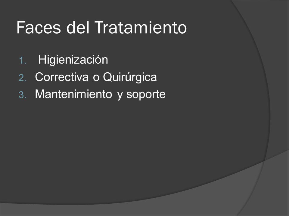 Faces del Tratamiento Higienización Correctiva o Quirúrgica