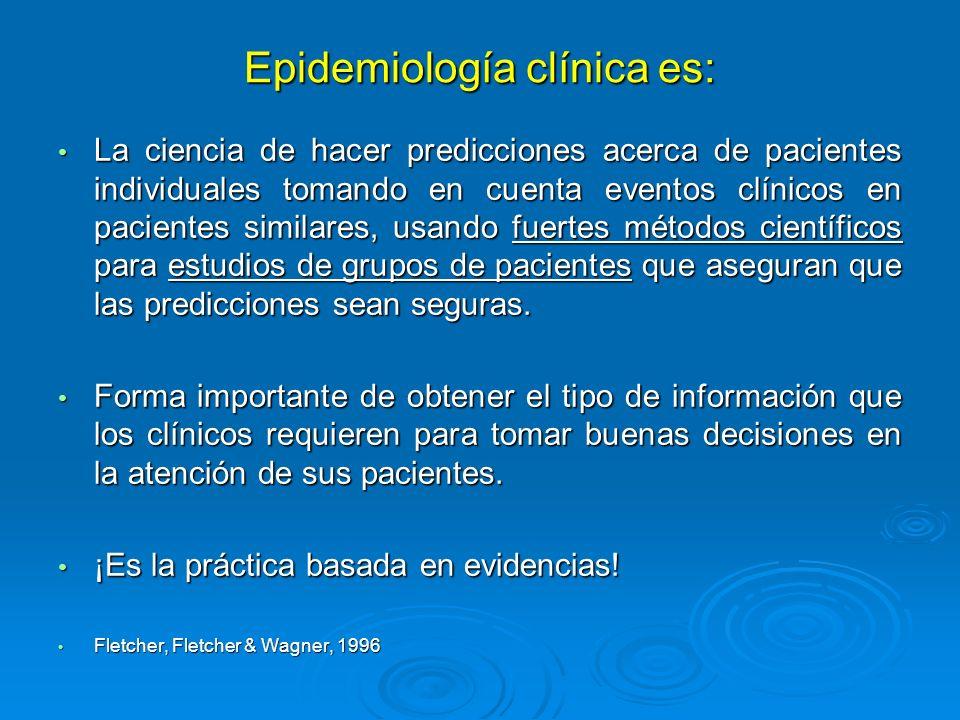Epidemiología clínica es: