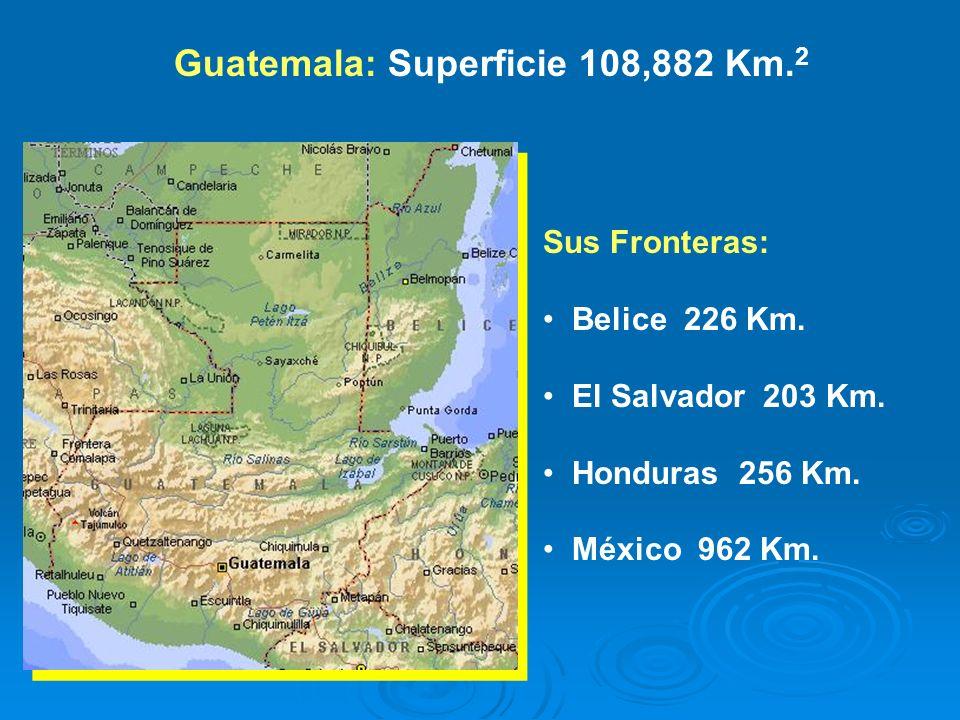 Guatemala: Superficie 108,882 Km.2